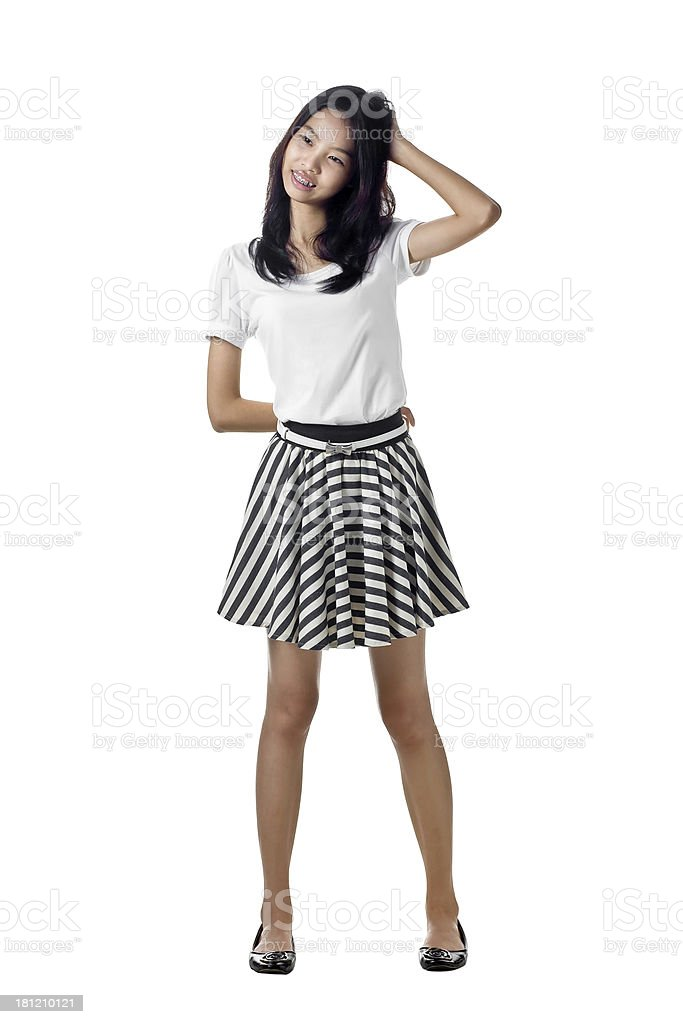 Asian girl Isolated royalty-free stock photo