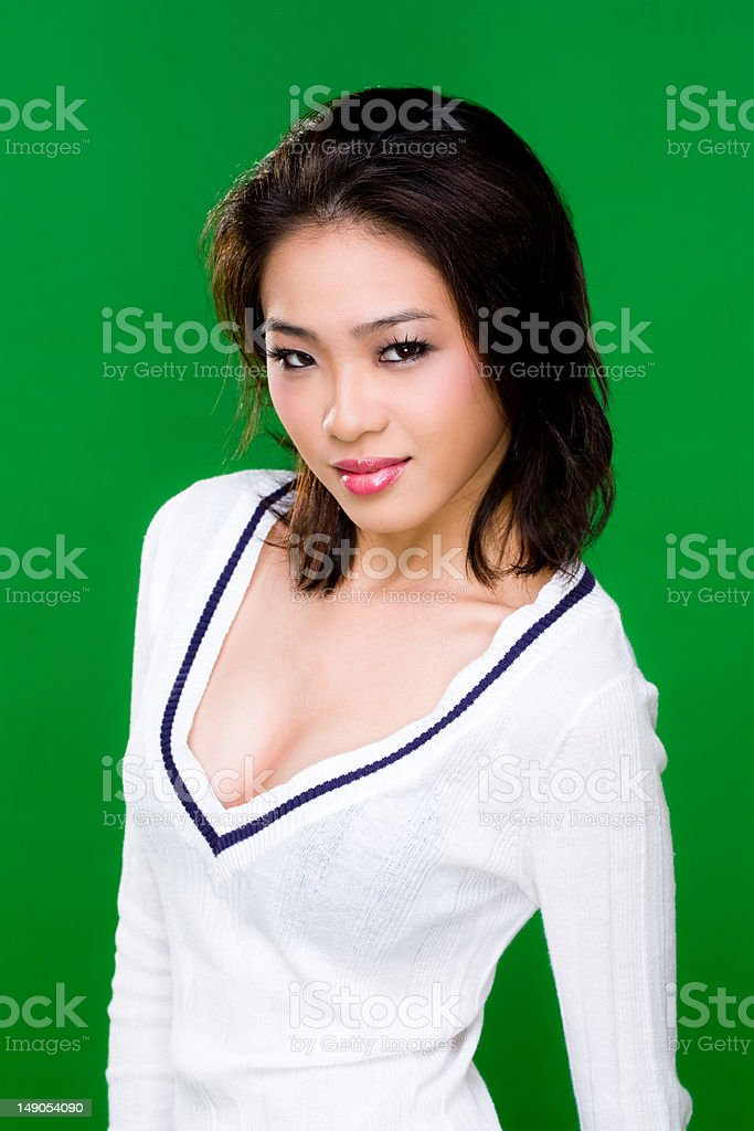 Asian Girl Next Door Stock Image
