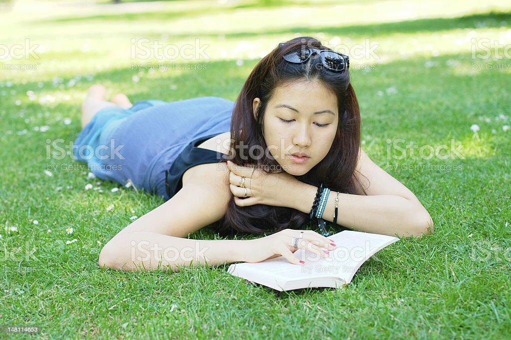 Asian girl outdoors royalty-free stock photo