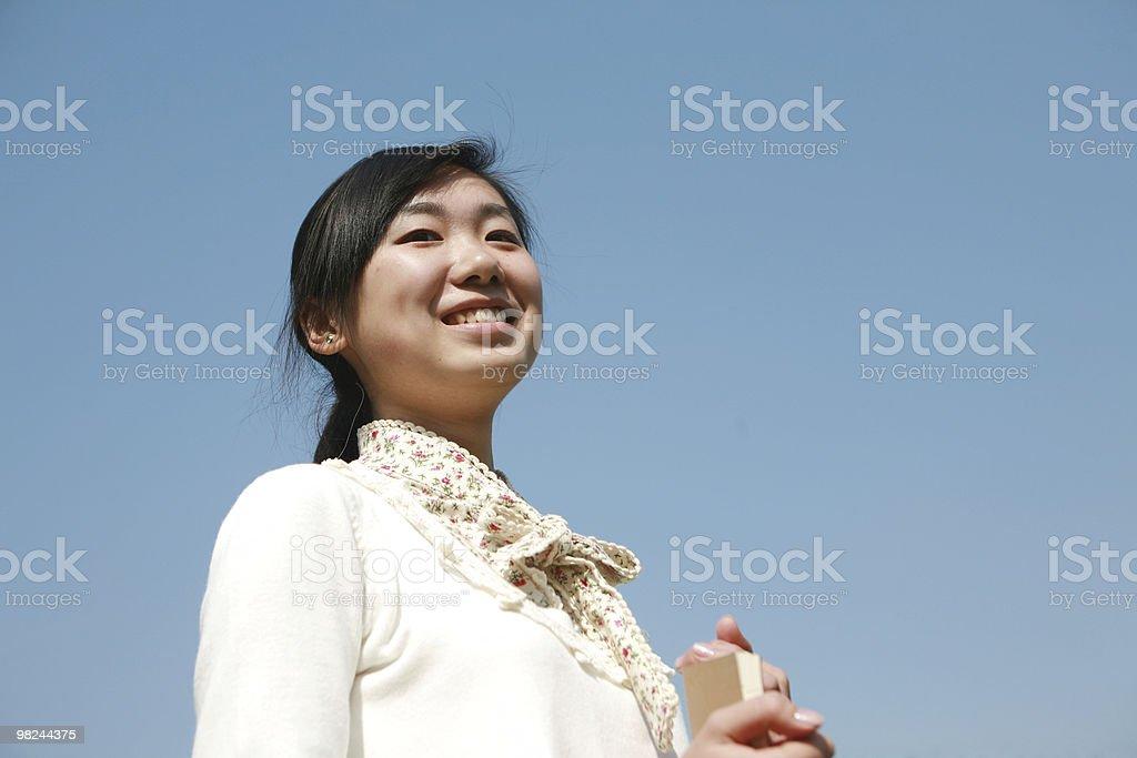 Ragazza asiatica foto stock royalty-free