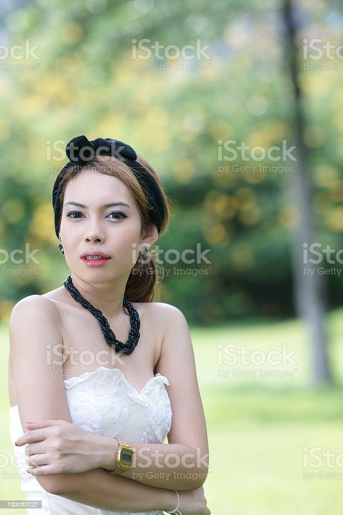Asian girl portrait royalty-free stock photo