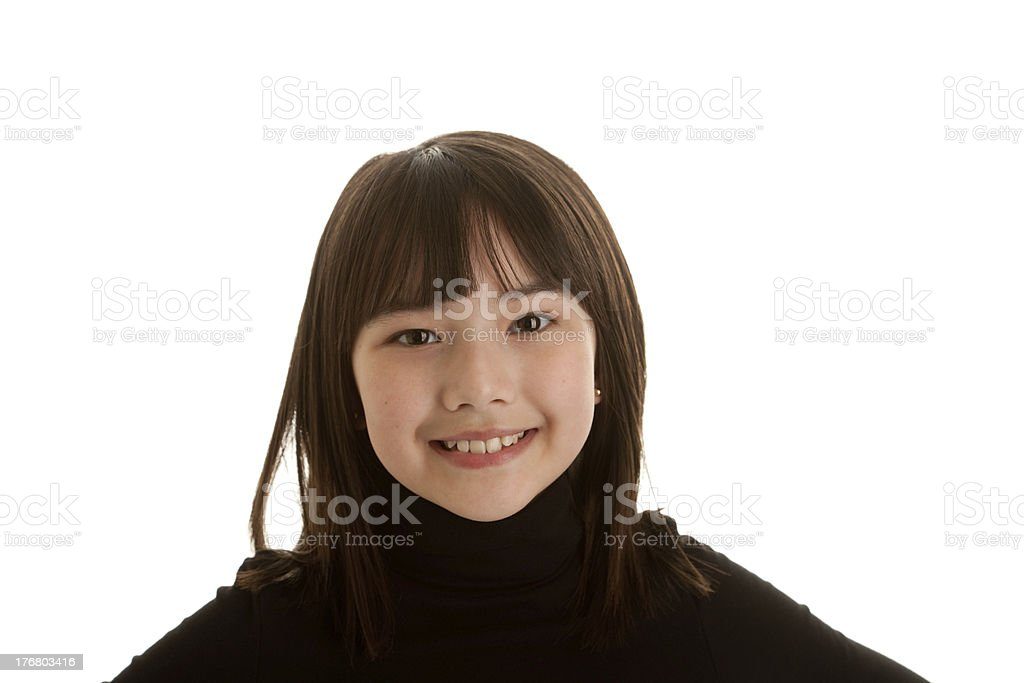 Asian Girl With a Big Smile royalty-free stock photo
