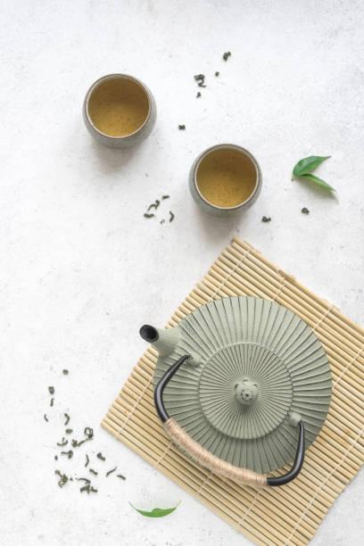 Asian Green Tea stock photo