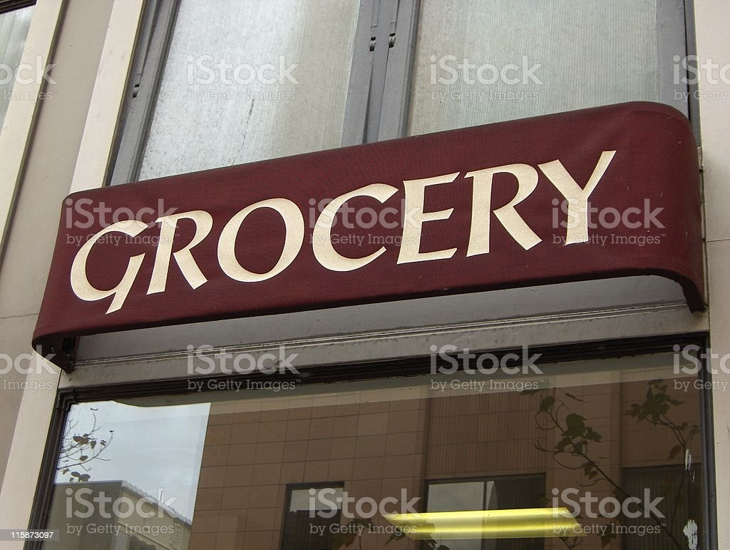 Asian Grocery Store royalty-free stock photo