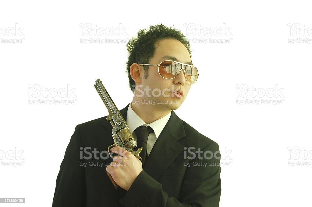 Asian Gunman stock photo