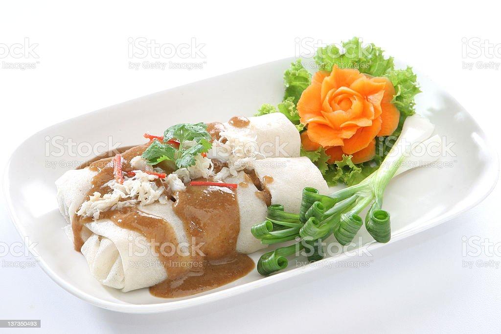 Asian Hand roll stock photo