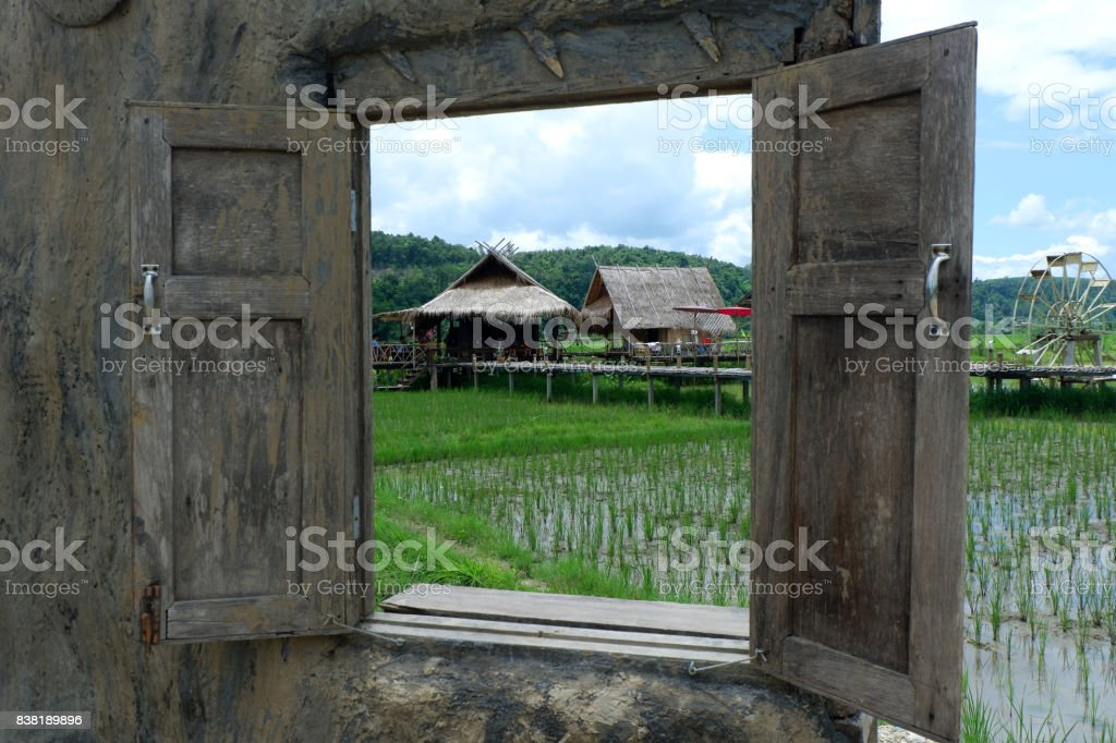 Asian house in Southeast Asia. stock photo