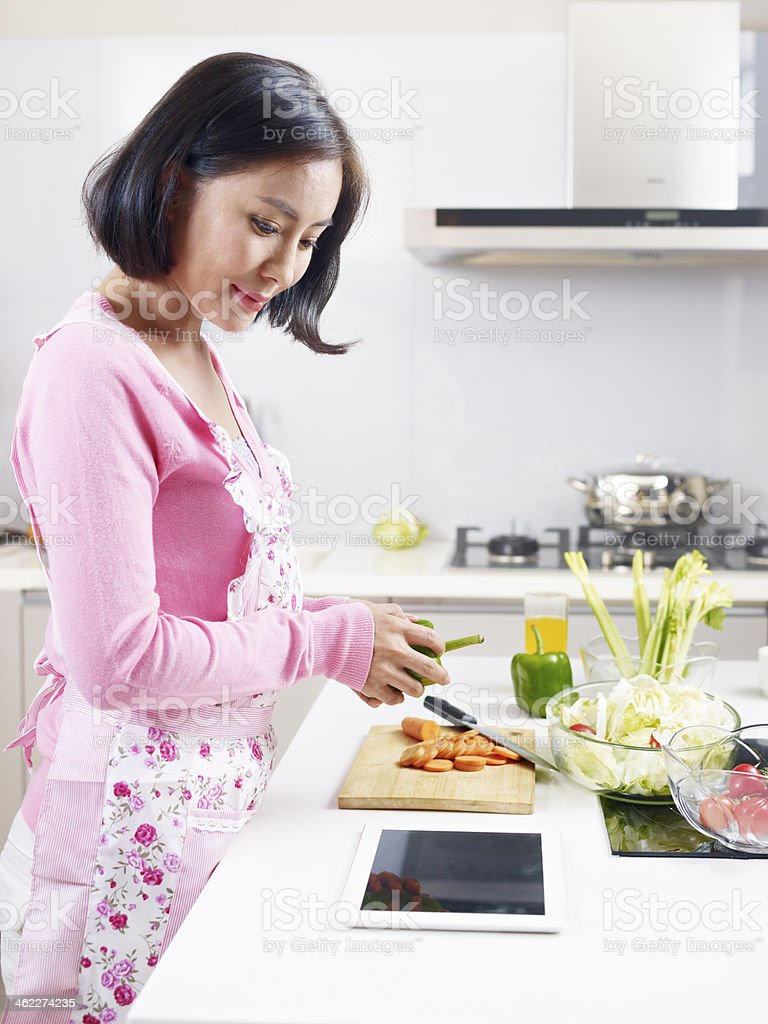 asian housewife stock photo