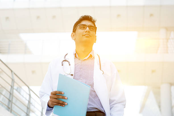 Asian Indian medical doctor stock photo