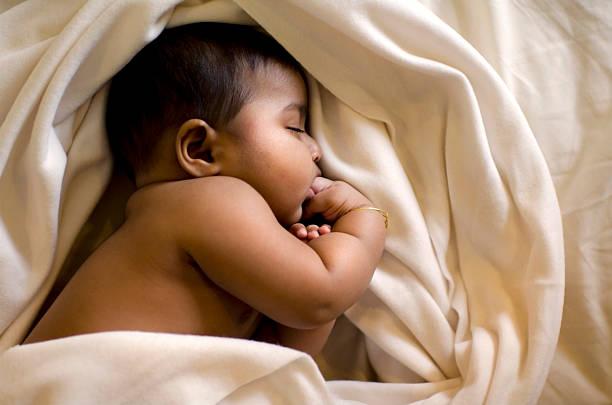 asian indian muslim baby stock photo