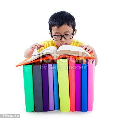 683105722 istock photo Asian kid with books isolated on white 476206028