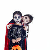 istock Asian Kids two with face-paint and Halloween costumes 1178893959