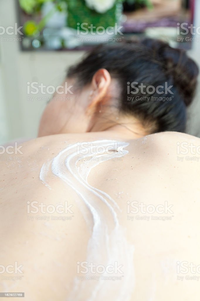 Asian lady at spa royalty-free stock photo