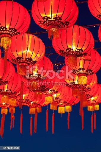 Asian lanterns during a religous festival.