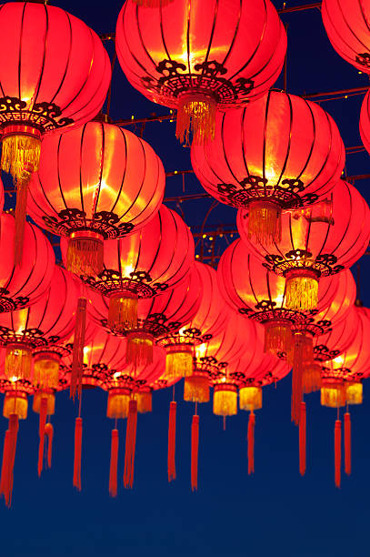 Asian Lanterns Festival stock photo