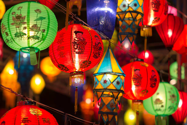 Asian lanterns in lantern festival Asian lanterns in lantern festival lantern stock pictures, royalty-free photos & images