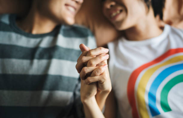 LGBT asian lesbian couple LGBT asian lesbian couple lgbtqi rights stock pictures, royalty-free photos & images