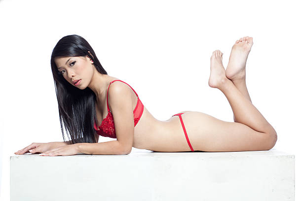 Asian lingerie model stock photo