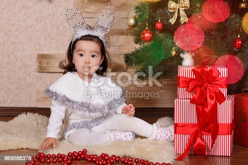 6eda3d18c0b61 istock Asian little cute girl wearing casual dress posing close to new year  christmas green classic