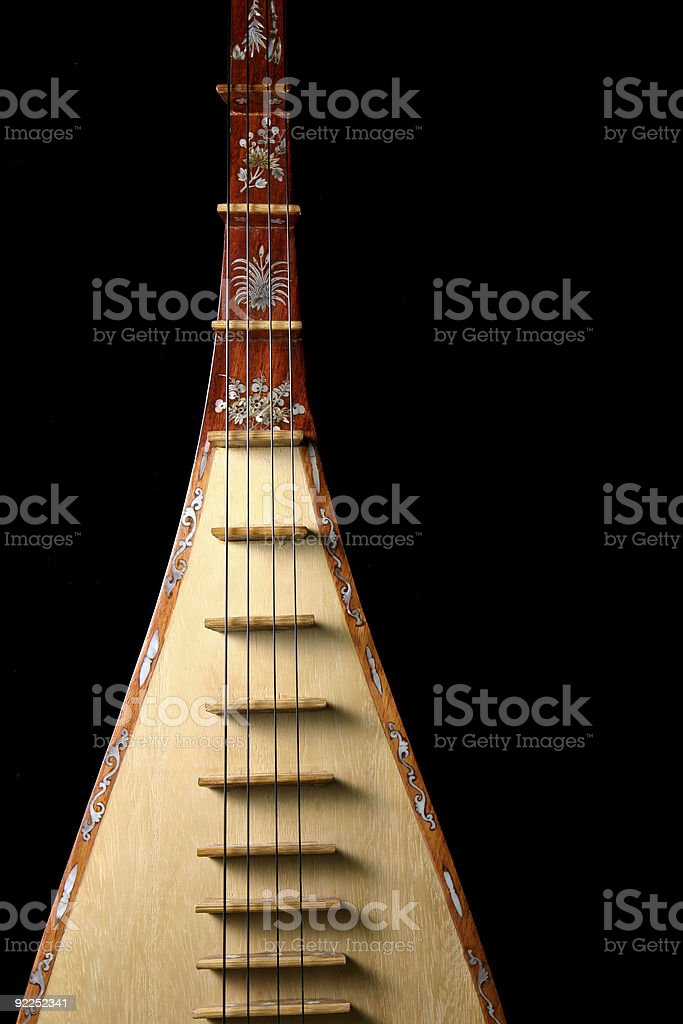 Asian Lute 6 stock photo