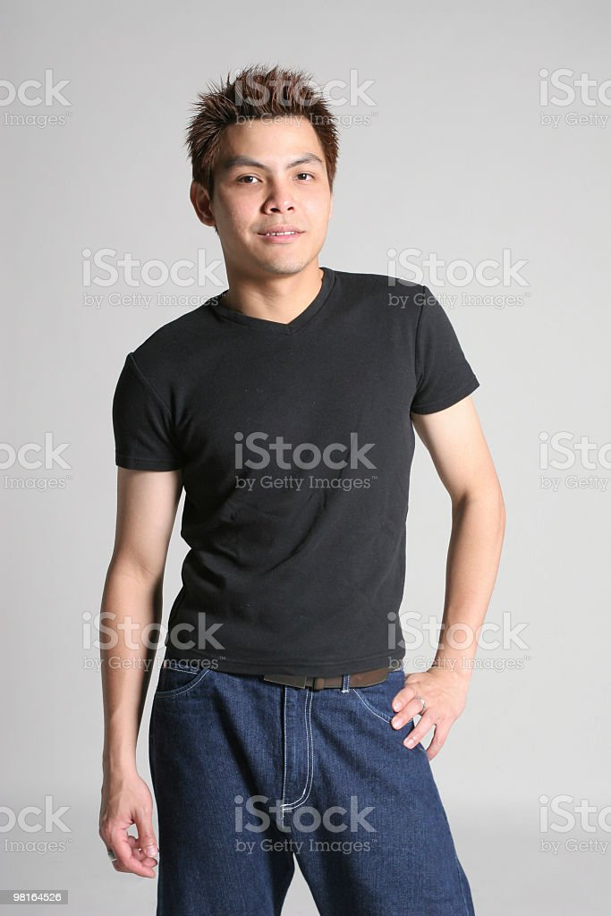 Asian male face camera royalty-free stock photo