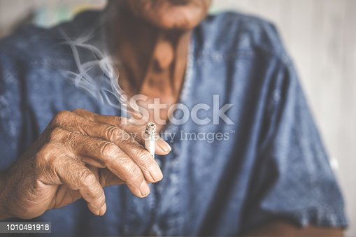 Asian male hand holding cigarette  smoking,unhealthy living lifestyle concept
