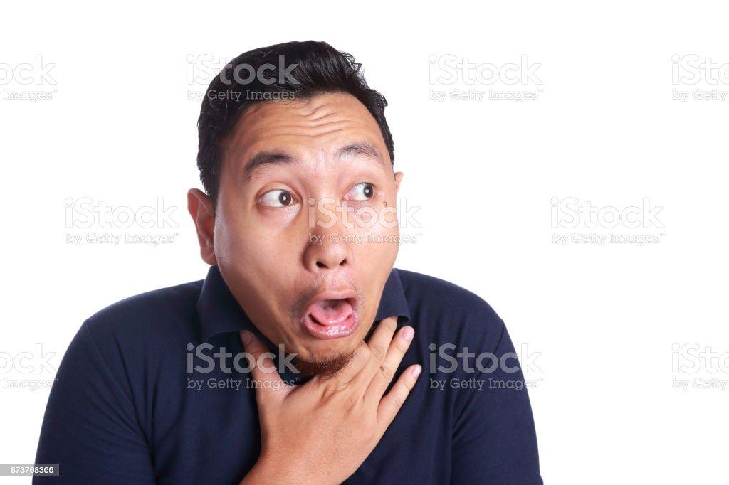 Asiatischer Mann Chocked mit Zunge heraus – Foto