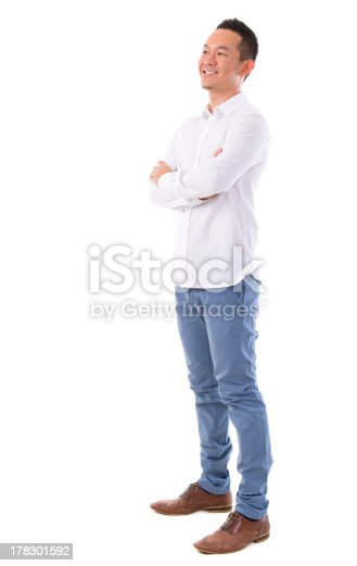 istock Asian man looking at side 178301592