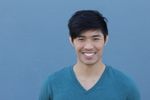 689644378 istock photo Asian Man Portrait Smiling Isolated 689644542