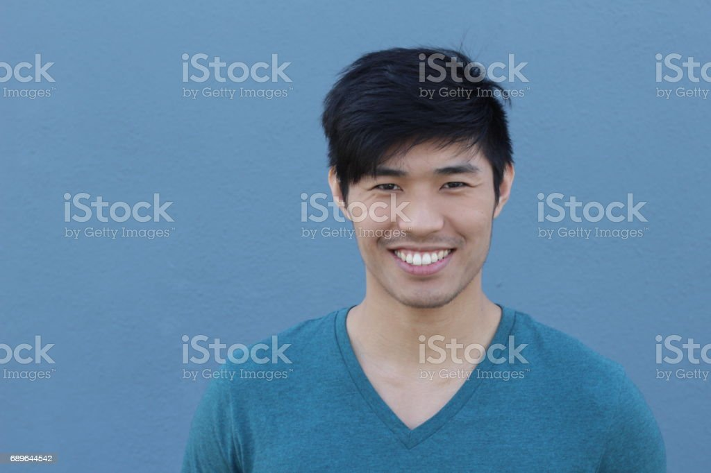 Asian Man Portrait Smiling Isolated stock photo