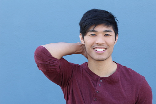 689644378 istock photo Asian Man Portrait Smiling Isolated with CopySpace 689644788