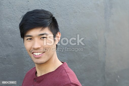 689644378istockphoto Asian Man Portrait Smiling Isolated with CopySpace 690428902