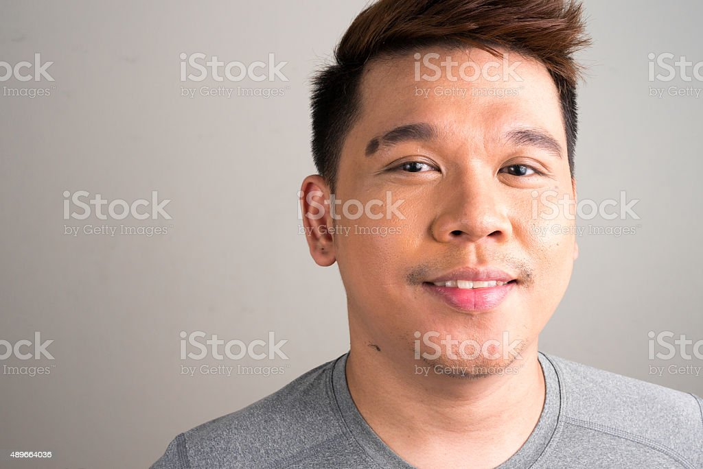 Asian man smiling stock photo