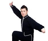 Asian man wearing a kung fu uniform