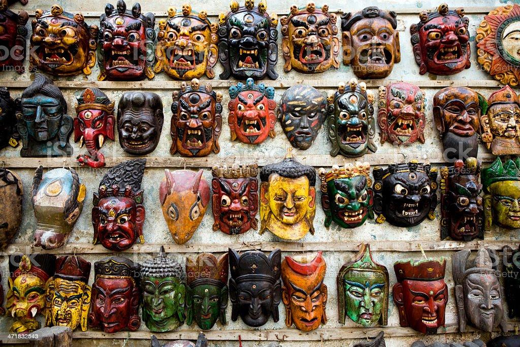 Asian Market Bazaar Nepal royalty-free stock photo