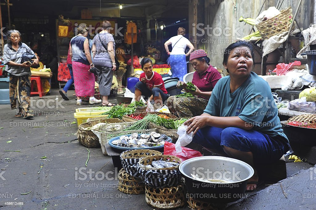 Asian market royalty-free stock photo