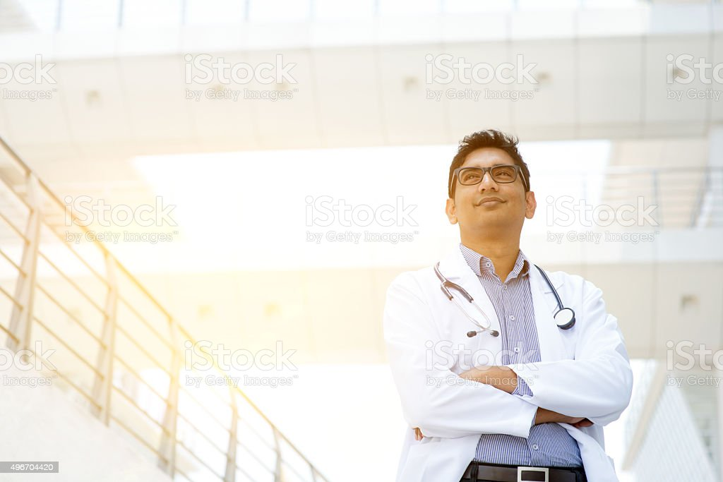 Asian medical doctor portrait stock photo