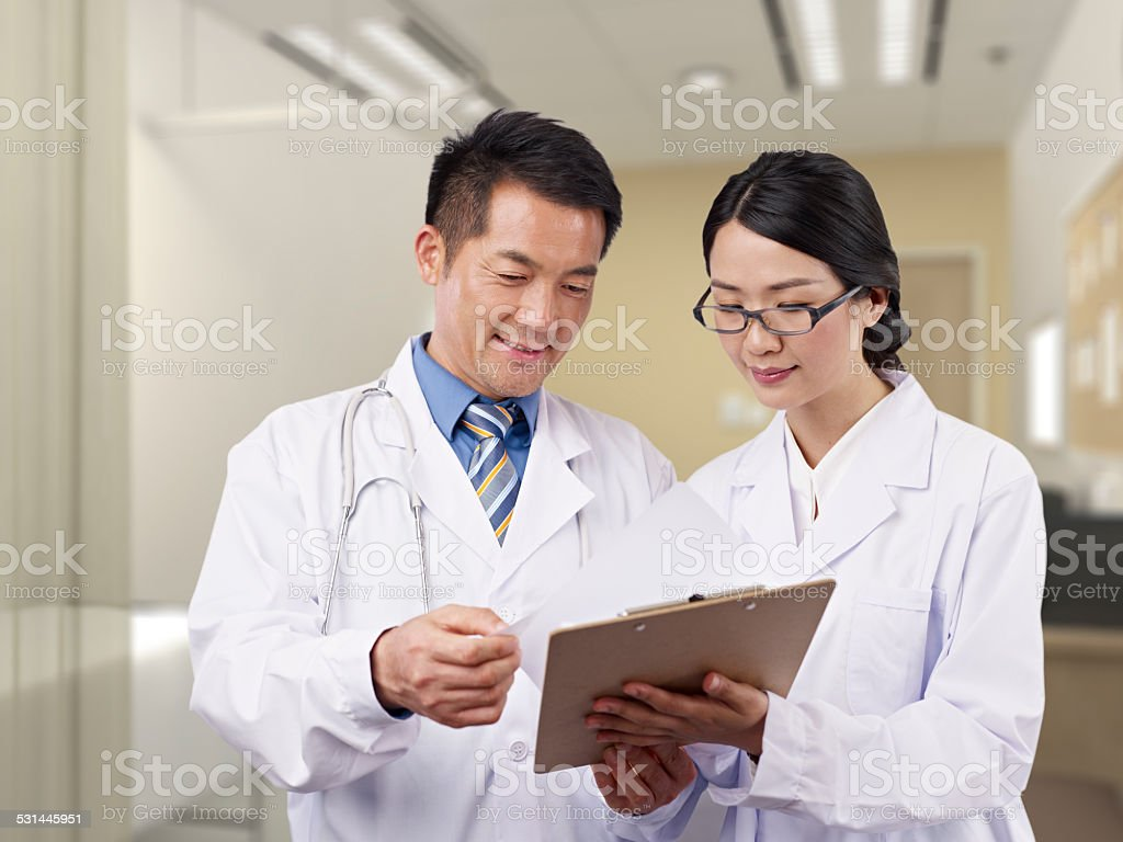 Asian medical professionals - Stock image .