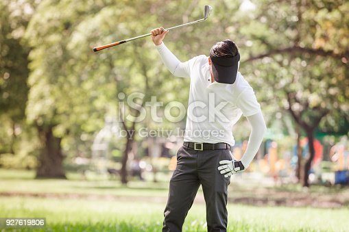 istock Asian men angry golfer 927619806