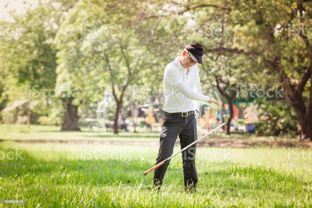Asian Men Angry Golfer Stock Photo More Pictures Of Activity Istock
