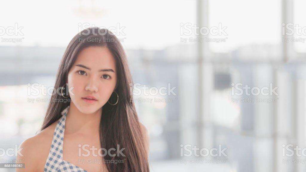 Asian model girl stock photo