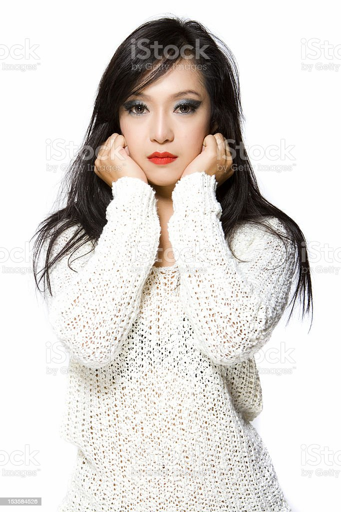 Asian Model Woman-Thai Ethnicity Beauty royalty-free stock photo