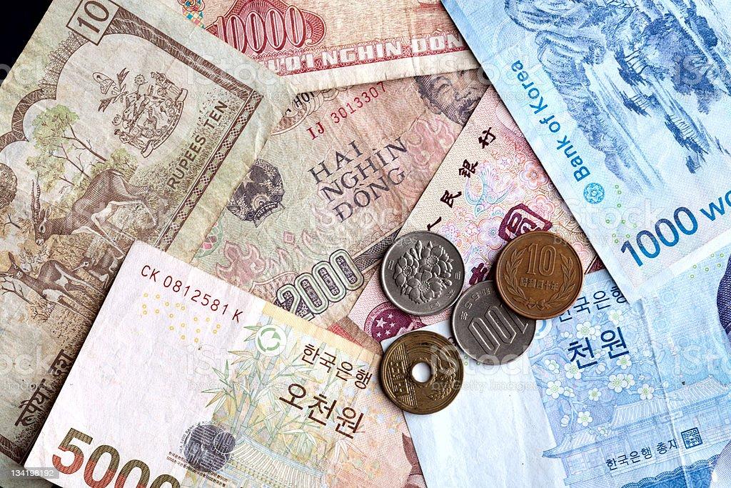 Asian money. royalty-free stock photo