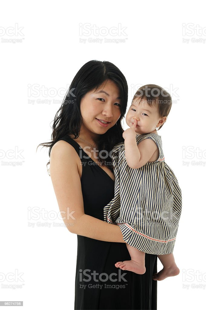 Asian mother and baby Girl royalty-free stock photo
