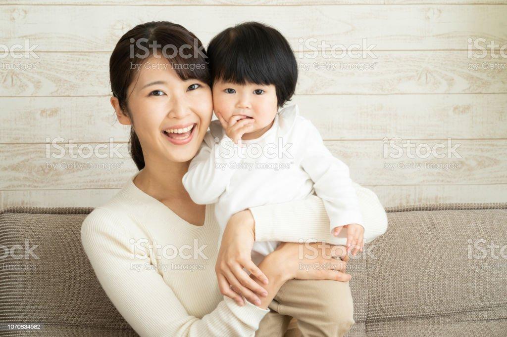 bébé et la mère asiatique - Photo