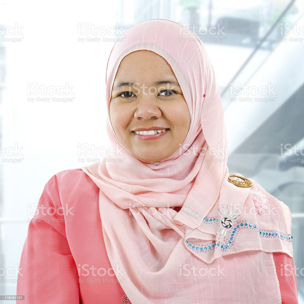 Asian Muslim woman stock photo