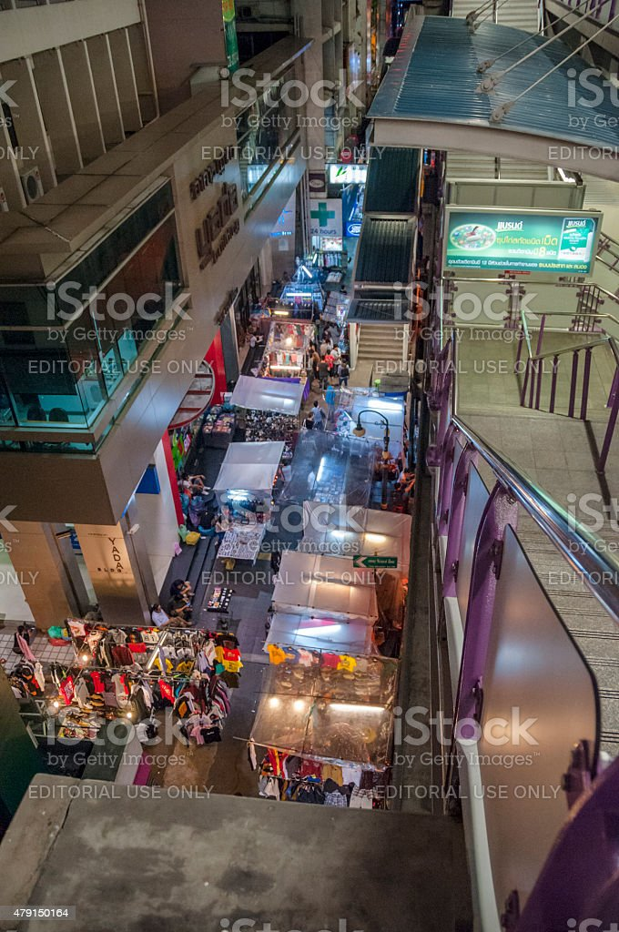 Asian Night Market stock photo