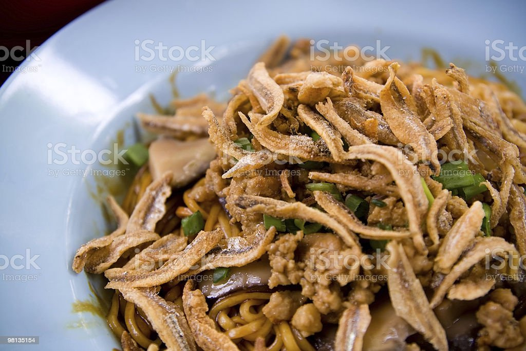 Asian Noodle – Pan Mee royalty-free stock photo