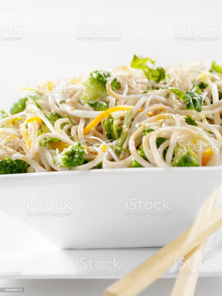 Asian Noodle Salad stock photo