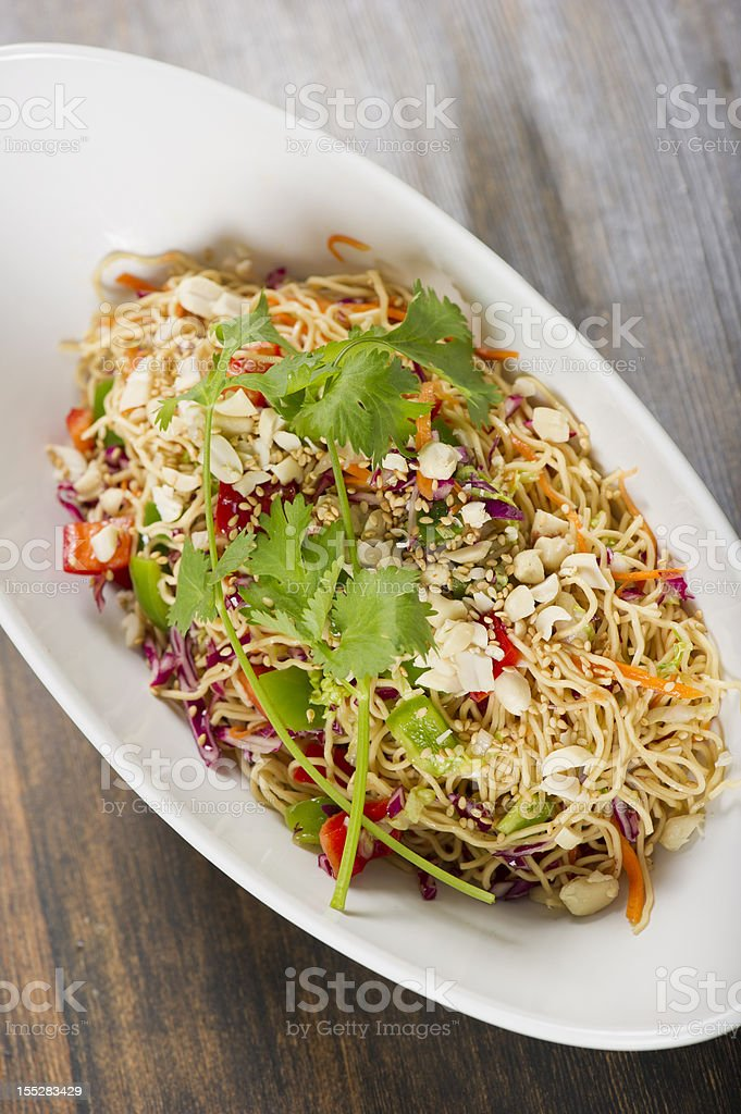 Asian Noodle Salad royalty-free stock photo